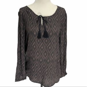 Soyaconcept tie front long sleeved blouse